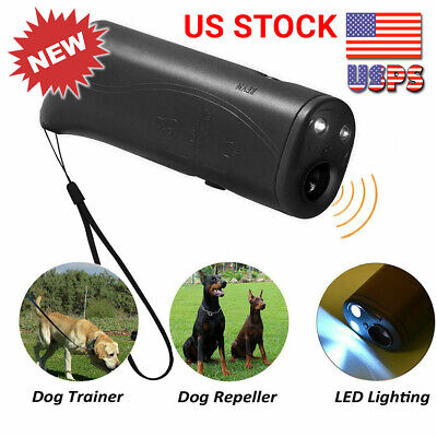 Ultrasonic Anti Dog Barking Device Pet Trainer LED Light Gentle Chaser Style