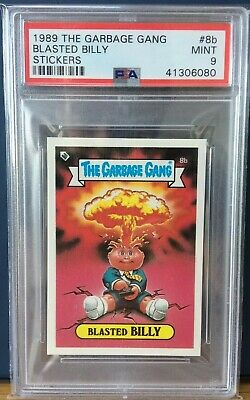 Blasted Billy 8b AUZ The Garbage Gang Series 1(1988)PSA 9 MINT ~ POP 2 ~ RARE!