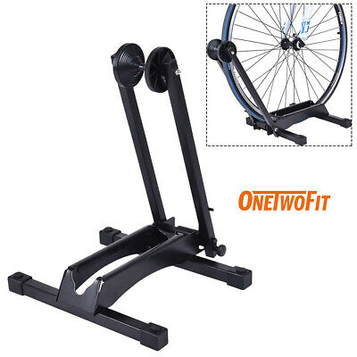 Portable Bike Floor Parking Stand Foldable Iron Rack for Indoor Home Using OT083
