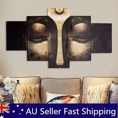 5Pcs Set Buddha Modern Art Canvas Print Painting Wall Picture Home Decor Framed