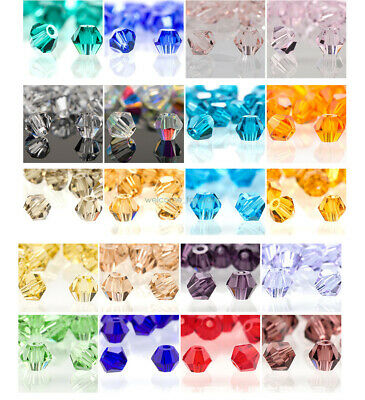 720pc 4mm Czech Crystal Glass Bicone Faceted Loose Spacer Beads Jewelry DIY