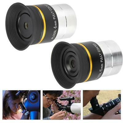 "1.25"" HD Plossl Eyepiece 4mm/6mm Fully Coated Metal for Astronomic Telescope"