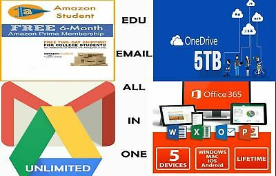 Edu Email 6 Months Amazon Prime Google Drive Unlimited OneDrive 1TB+more ...