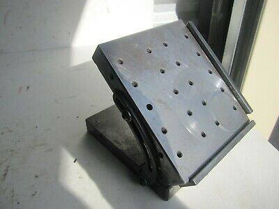 "Grind Mate 5"" x 6"" adjustable angle sine plate drilled threaded 2.5"" high flat"