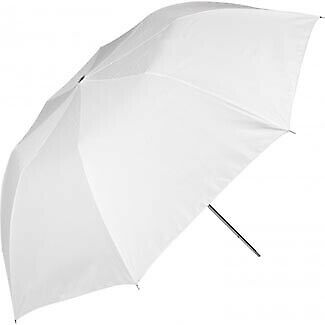 "Westcott 2001 43"" Collapsible Optical White Satin Umbrella  2001"