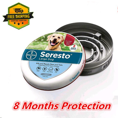 Seresto Animal Health Flea and Tick Collar for Large Dog 8 Months Protection New