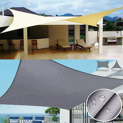 Heavy Duty Waterproof Sun Sail Shade Cover Awnings Canopy Garden Sunscreen Large
