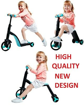 3 in 1 KIDS SCOOTER BIKE ADJUSTABLE 2-6 YEAR - HIGH QUALITY PRODUCT