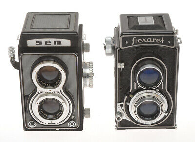 Sem & Meopta, couple of TLR cameras Semflex and Flexaret, sold as is