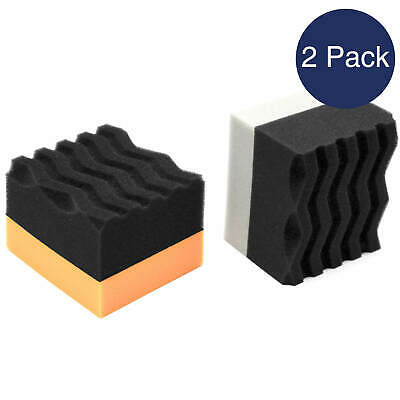 Tyre Dressing Flexible Soft Foam Applicator Sponge Tire Shine Pad 2 Pack