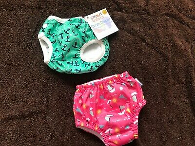 Nwt Smart Bottom Size Small Lot Of 2 Swim Diapers Super New