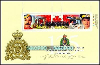 Canada 1998 Royal Canadian Mounted Police Rcmp Face 90 Cent Mnh Stamp Sheet Set