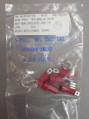 Lot-of-118 H.H. Smith 1509-102 Red Insulated Tip Jacks w/ Hardware NEW