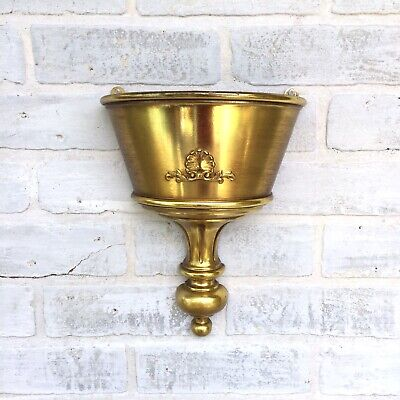 Vintage 1960s Hollywood Regency Gold Wall Planter Syroco 4640