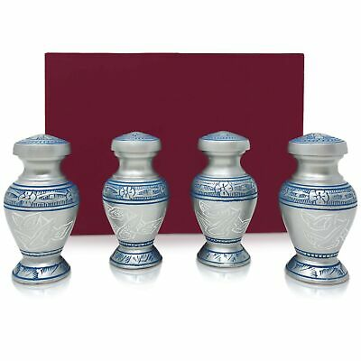 SmartChoice Urn Set of 4 Keepsakes for Ashes Cremation Urn Keepsake for Human...