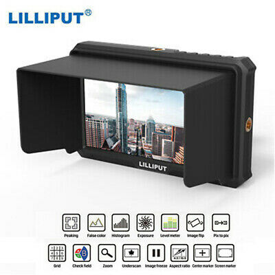 LILLIPUT A5 1000:1 Contrast Top Broadcast Monitor For 4K Full HD Camcorder P1Q9