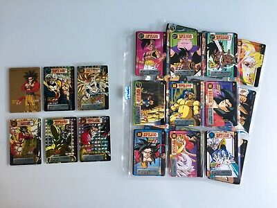 Dragon Ball GT Carddass Hondan Part 29 COMPLETE FULL SET Special Gold Flash 127