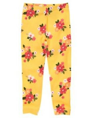 NWT Gymboree Friendship Camp Yellow Floral Leggings Size 5,6,8