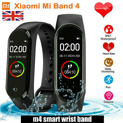 "Xiaomi Mi Band 4 0.95"" OLED Smart Bracelet Heart Rate Fitness Tracker Wristband"