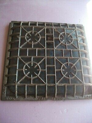 "Heat Air Grate Wall Register Curved Edge  LOCK WELL Brand 1906 10"" x 10"""