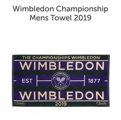 Mens Wimbledon Towel - Official 2019 Tennis Championships - Fast Shipping