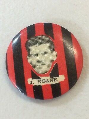 1920s West Adelaide Football Club Player Button Badge Pin Keane