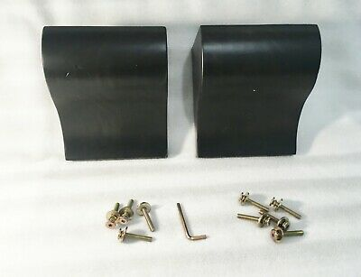 Pair Of Black Wood Corbels Bar - Shelf Supports / Brackets / Maple / 7 X 6 X 4
