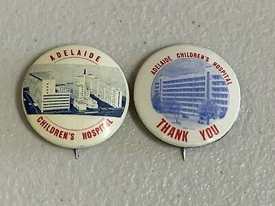 2 Adelaide Childrens Hospital Appeal Day Button Badge Pins