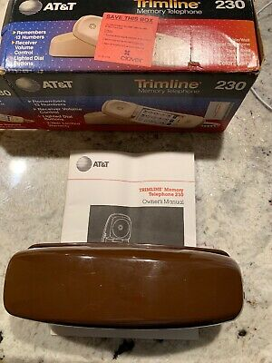 AT&T/Lucent Trimline 230 Memory Corded Telephone Landline W/Manual But No Cords!