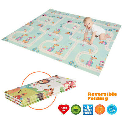 Kids Baby Play Mat Set Non-Toxic Foldable Large Crawling Baby Mats For Playroom