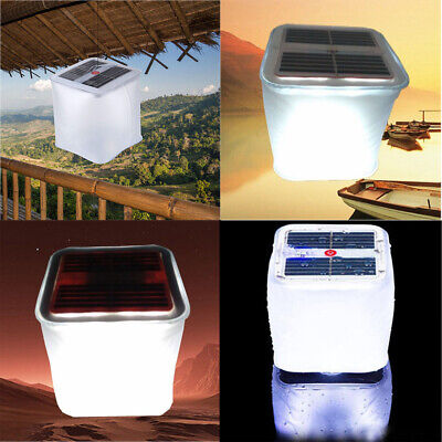 Foldable Inflatable Solar Power 10 LED Light Outdoor Camping Garden Lantern Lamp