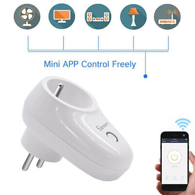 Sonoff S26 WiFi Plug TFTTT Smart Power Socket Wireless Time APP Control ng59