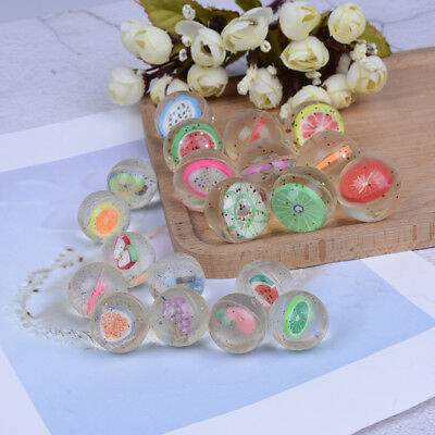 2/10Pcs Clear bouncy balls fruit mini rubber bouncing ball for children toy RK