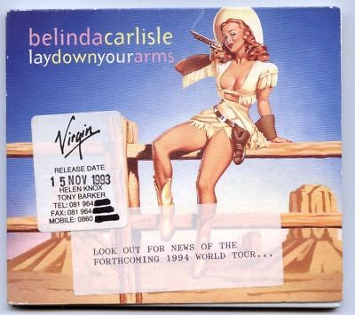 BELINDA CARLISLE UK 1993 DIGIPACK CD Single Lay down your arms PROMO STICKERED