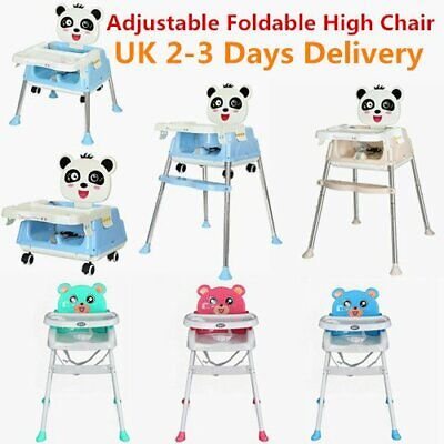 Baby Foldable High Chair Recline Highchair Height Adjustable Seat Table 2 Select