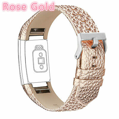 Wrist Strap Watch Band Genuine Leather Replacement Wristband For Fitbit Charge 2
