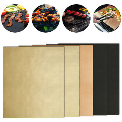 Grill Mats Resistant Non-Stick Meat Bake Barbecue Reusable Teflon Sheets for BBQ