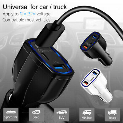QC3.0 Fast Charging Adapter Quick Charge Qualcomm with 2 USB Ports Car Charger