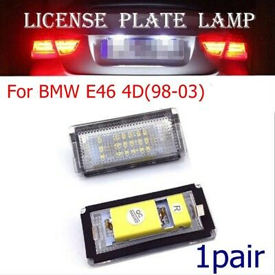 2pc Replace No Error LED Number / License Plate Lamp Light for BMW E46 4D(98-03)