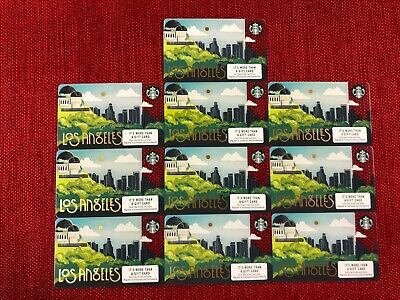 10 New Starbucks Los Angeles 2019 City Gift Cards Lot Limited Beautiful!!