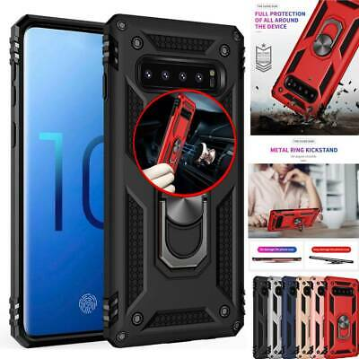 For Samsung Galaxy S10 5G,Shockproof Magnet Ring Holder Stand Armor Case Cover