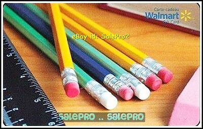 Walmart School Supplies & Pencils #Fd28967 Eng/Fr Collectible Gift Card