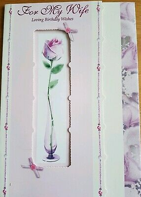 Wife Birthday Card - For My Wife Loving Birthday Wishes - Quality card