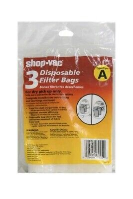 6 Pack Shop-Vac 90667 Micro Disposable Collection Filter Bag 1-1.5 Gallon - NEW