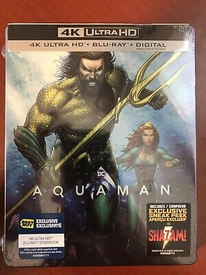 Aquaman Steelbook (4K Ultra HD + Blu-ray + Digital HD) - New/Sealed!