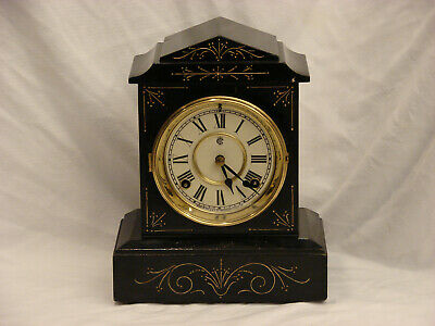 Rebuilt Waterbury Serviced Movement Mantel Clock circa 1900