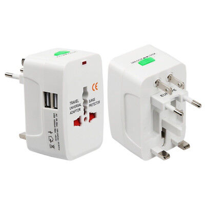 Universal Travel Adapter Worldwide Power Plug Wall AC Adaptor Charger with USBSP