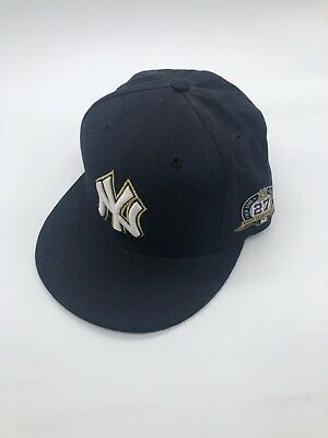 quality design 29c3a 25054 New Era New York Yankees Fitted Hat Cap 27 World Series Championships Patch