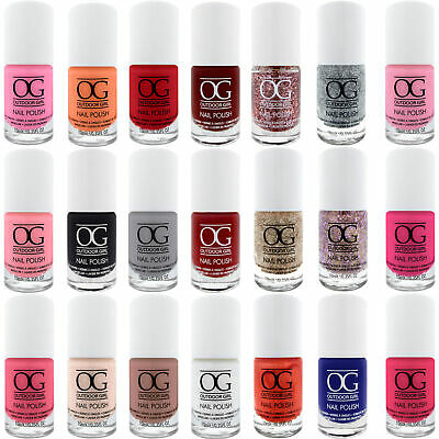 Outdoor Girl Nail Polish - Bright Colours Glitter Varnish Long Lasting Nails
