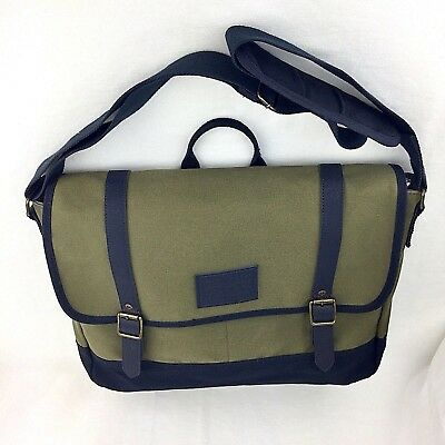 45c684634 Levis Canvas Crossbody Messenger Bag Computer Tote Drab Green and Blue